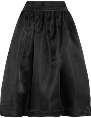 Ganni Seneca Silk-organza Midi Skirt - Black