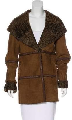 Giuliana Teso Hooded Suede Coat