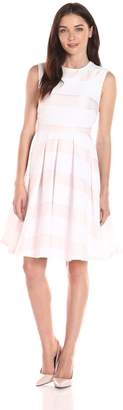 Helene Berman Women's Sleeveless Pleat-Skirt Dress
