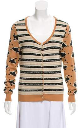 Thakoon Patterned Scoop Neck Cardigan
