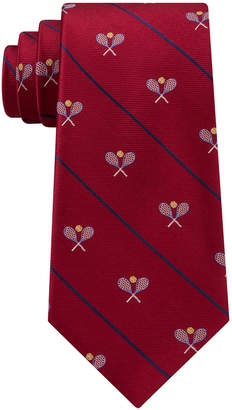 Club Room Men's Tennis Racket Silk Tie, Created for Macy's