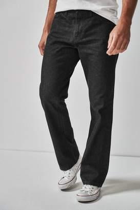 Next Mens Black Bootcut Fit Jeans - Black