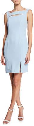 Laundry by Shelli Segal Open-Neck Sheath Dress w\/ Side Slit