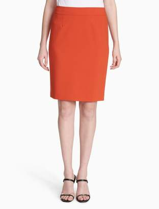 Calvin Klein luxe straight skirt