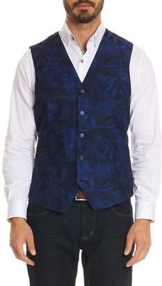 Robert Graham Nunez Regular Fit Linen & Cotton Vest
