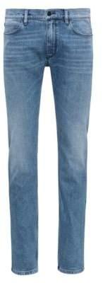 HUGO Boss Slim-fit jeans in mid-blue stretch denim 32/32 Blue
