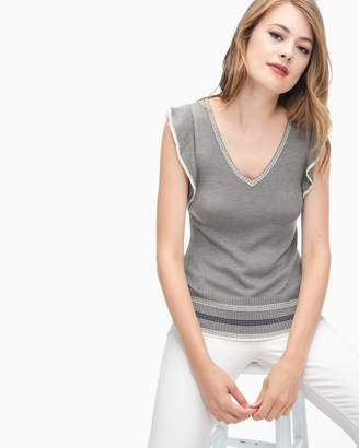 Splendid Beckton Cashmere Blend Short Sleeve Sweater