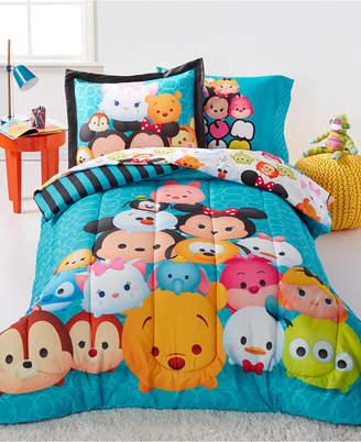 Disney Disney's Tsum Tsum Teal Stacks Twin 5 Piece Comforter Set Bedding