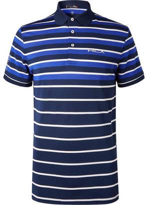 RLX Ralph Lauren Striped Tech-Piqué Golf Polo Shirt