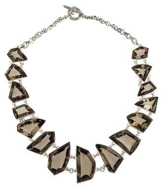 Stephen Dweck Smoky Quartz Galactic Collar Necklace