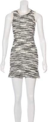 Derek Lam Linen-Paneled Bouclé Dress