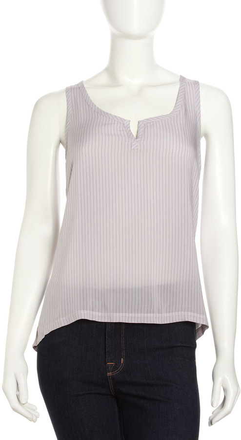Splendid Striped Hi-Lo Tank, Mist