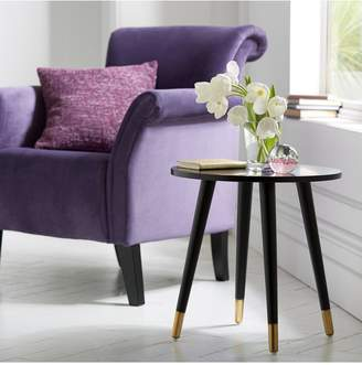 Ideal Home Teddy Side Table - Gold Tipped Black