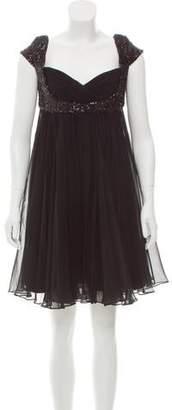 Marchesa Silk Mini Dress