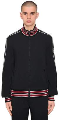 Dolce & Gabbana Tech Viscose Blend Zip-Up Sweatshirt