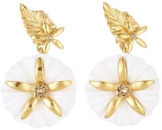Oscar de la Renta Morning Glory Earrings