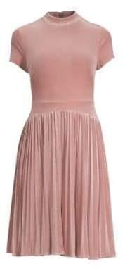 Aidan Mattox Pleated A-Line Dress