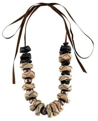 Marni Ribbon Bead Strand Necklace