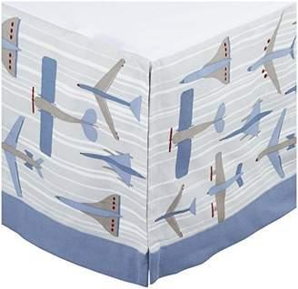 DwellStudio Canvas Crib Skirt- Flight Sky by Dwell Studio