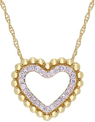Rina Limor Fine Jewelry Women's 10K Yellow Gold & Diamond Heart Pendant Necklace