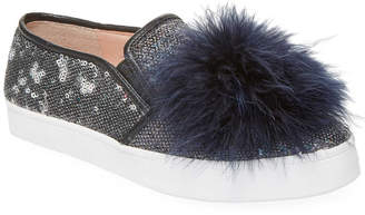 Kate Spade Latisa Feather Pom Pom Sneaker