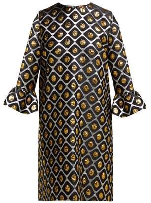 La DoubleJ 24/7 Brocade Mini Dress - Womens - Black Gold