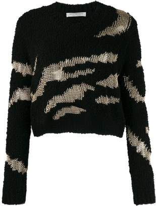 Philosophy di Lorenzo Serafini textured cropped jumper