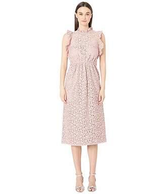 Kate Spade Floral Lace Ruffle Dress