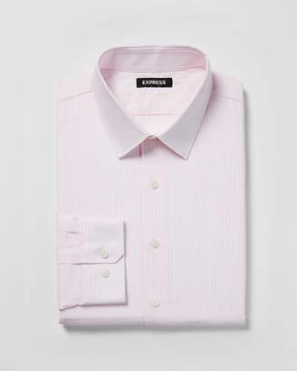 Express Slim Striped Point Collar Dress Shirt