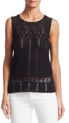 Saks Fifth Avenue Crochet Cotton Top
