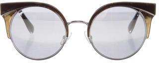 Jimmy ChooJimmy Choo Ora Metal Round Sunglasses