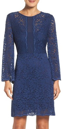 Women's Laundry By Shelli Segal Stretch Lace A-Line Dress $168 thestylecure.com