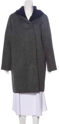 Vince Hooded Wool Coat