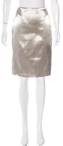 Ralph Lauren Metallic Knee-Length Skirt w/ Tags