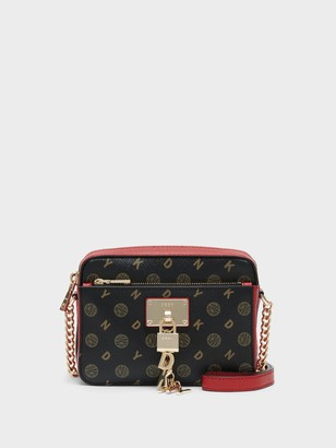 DKNY Elissa Logo Top Zip Crossbody