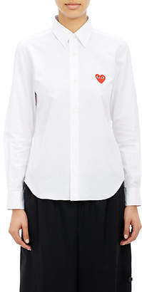 Comme des Garcons Women's Heart Emblem Shirt - White