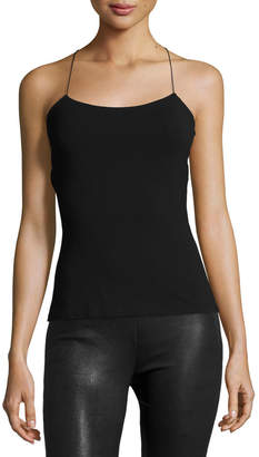 Alexander Wang Strappy Cross-Back Cutout Camisole Black