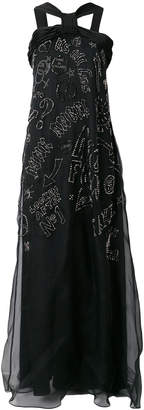 John Richmond stud embellished maxi gown