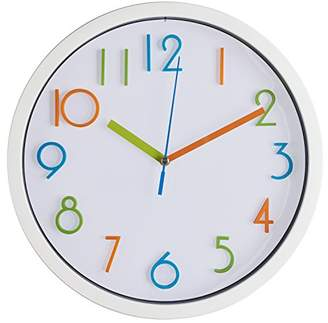 "Bernhard Products Colorful Kids Wall Clock 10"" Silent Non Ticking Quality Quartz Battery Operated Wall Clock"