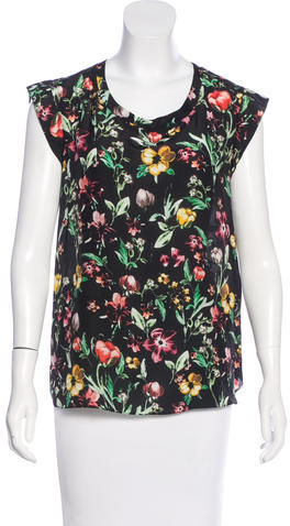 3.1 Phillip Lim 3.1 Phillip Lim Silk Floral Print Top
