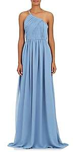 Lanvin Women's Embellished Silk Georgette One-Shoulder Gown - Blue