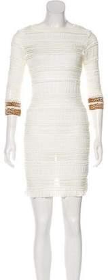 Just Cavalli Ruffled Bodycon Dress