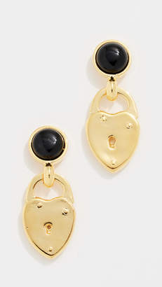 Lizzie Fortunato Onyx Locket Earrings