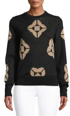 Marella Intarsia Wool-Blend Sweater