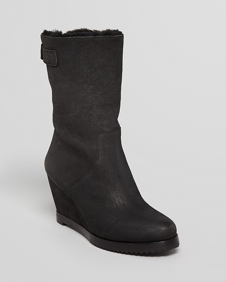 Eileen Fisher Cold Weather Wedge Boots - Glad Shearling