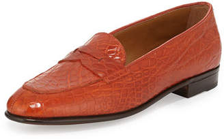 Gravati Crocodile Penny Loafer
