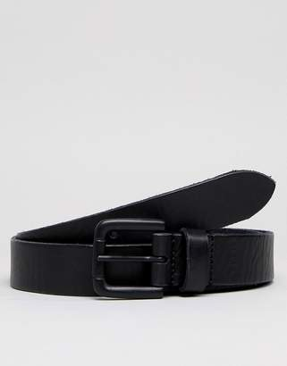 Esprit Leather Jeans Belt In Black