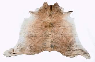 All Natural Hides And Sheepskins Medium Brindle Natural Cowhide Rug