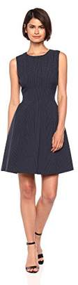 Anne Klein Women's Vertical Seamed FIT and Flare Dress
