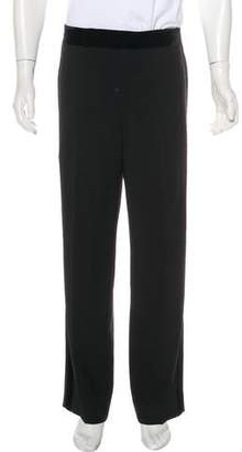 Giorgio Armani Velvet-Trimmed Dress Pants